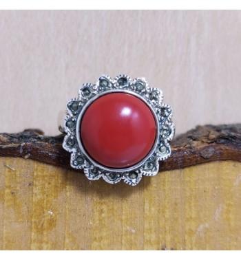 Anillo Coral Rojo Sol