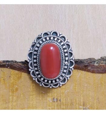 Anillo Coral Rojo Tibetano...