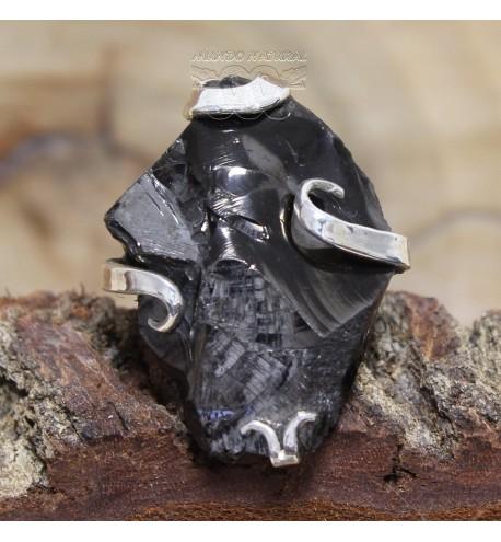 Anillo Shungit Cristalizado Adaptable